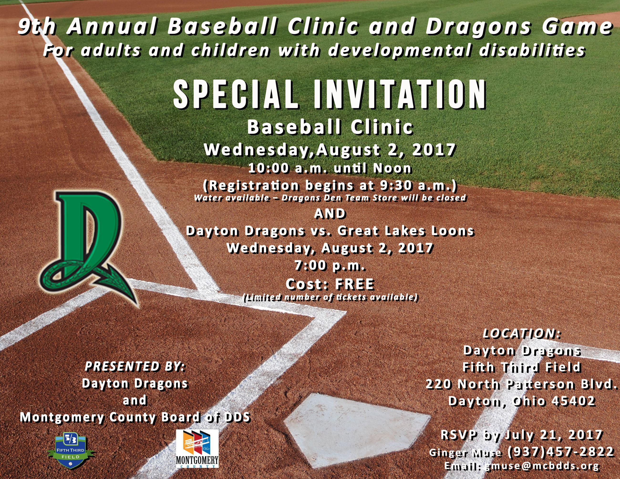 Dayton Dragons Baseball Clinic 2017 (JPG)