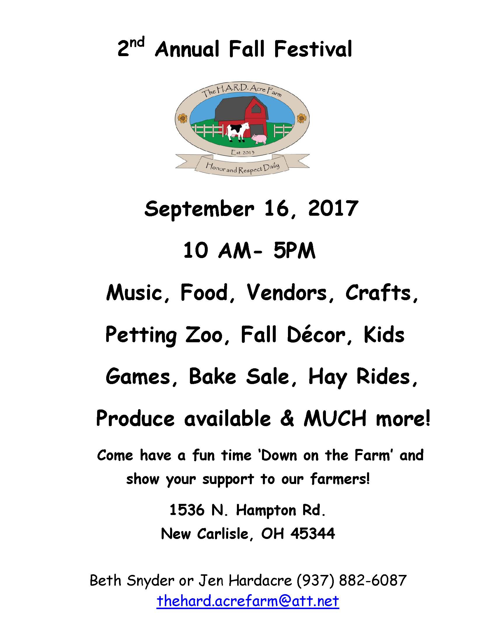 H.A.R.D. Acre Farm-2nd Annual Fall Festival