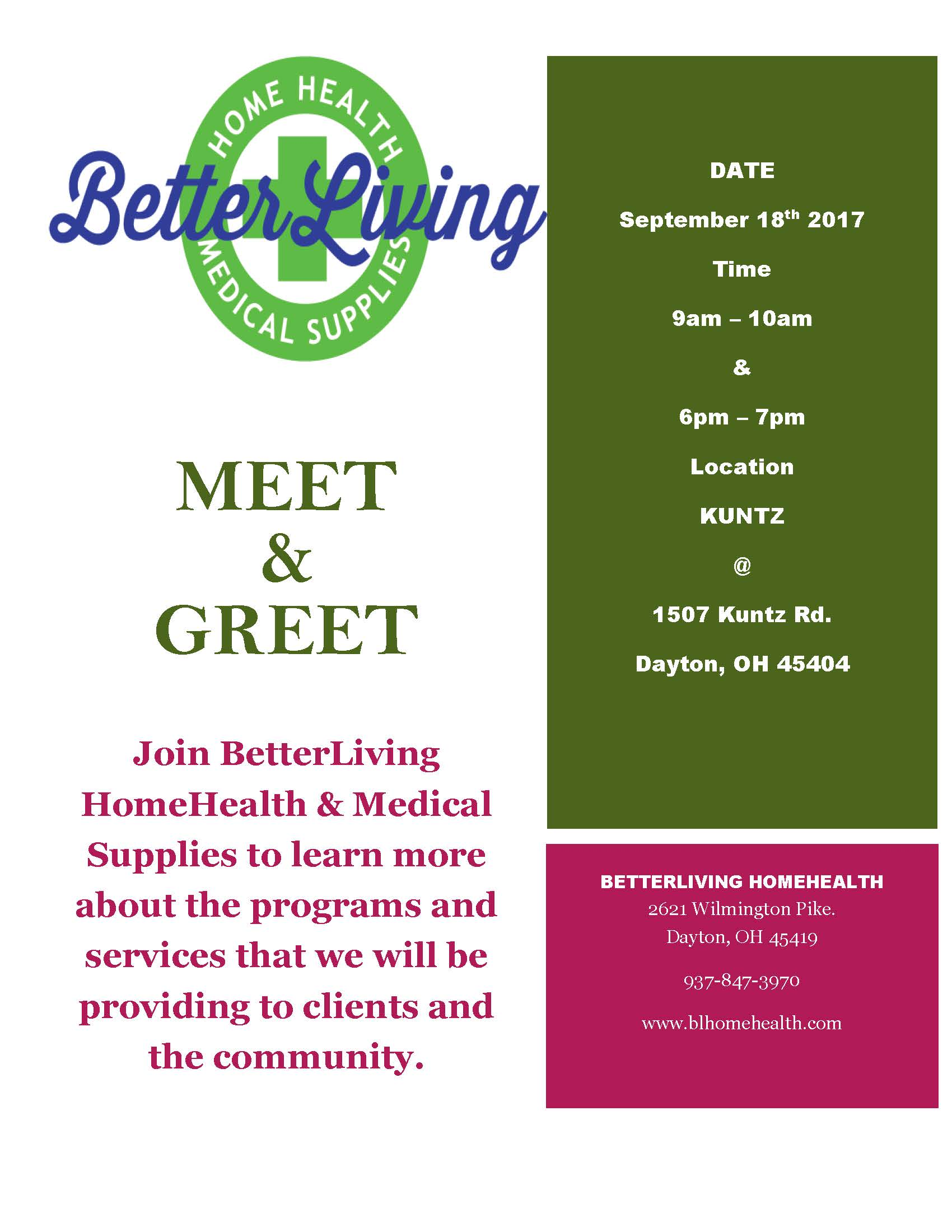 Better Living Meet and Greet Event