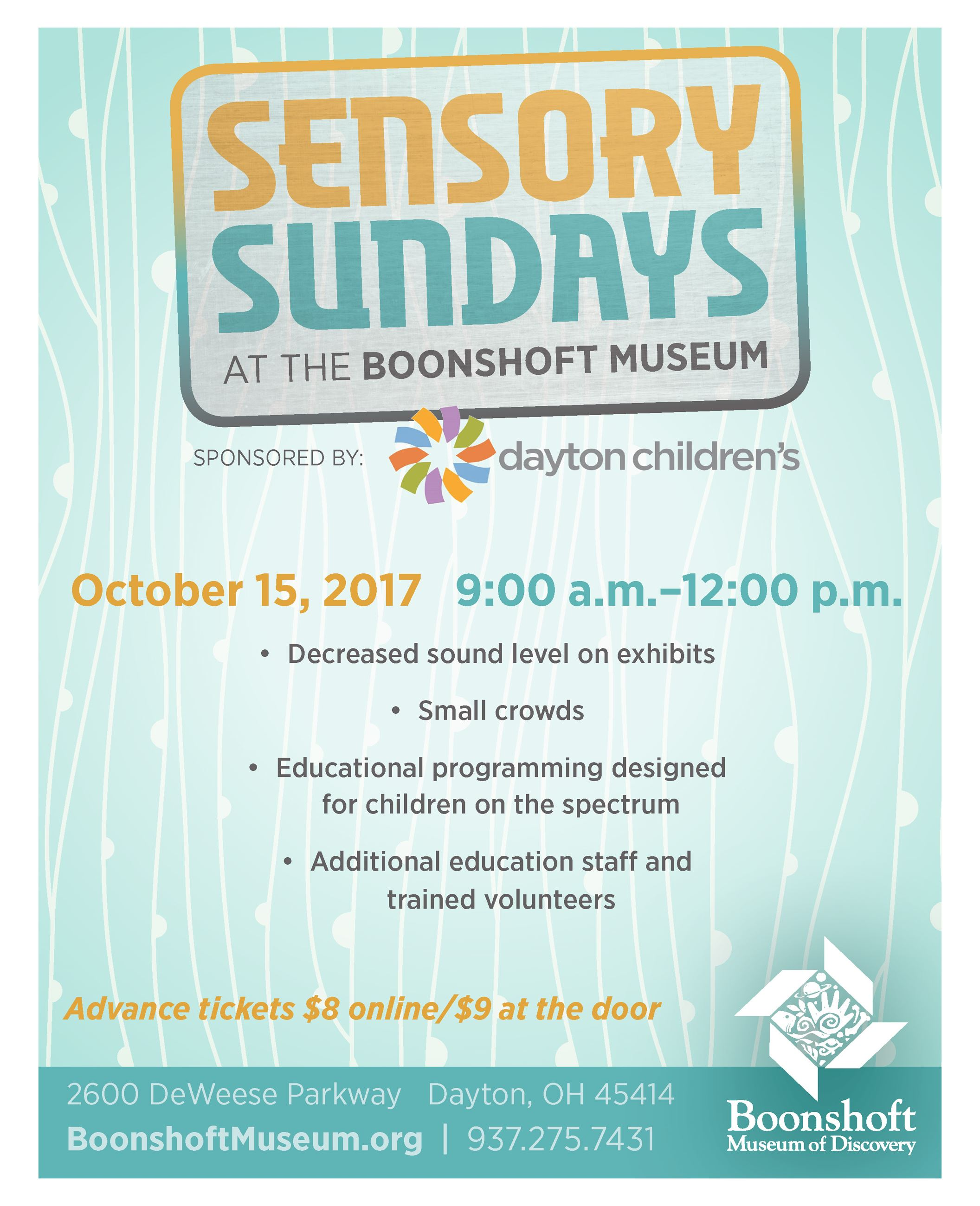 Sensory Sundays at the Boonshoft