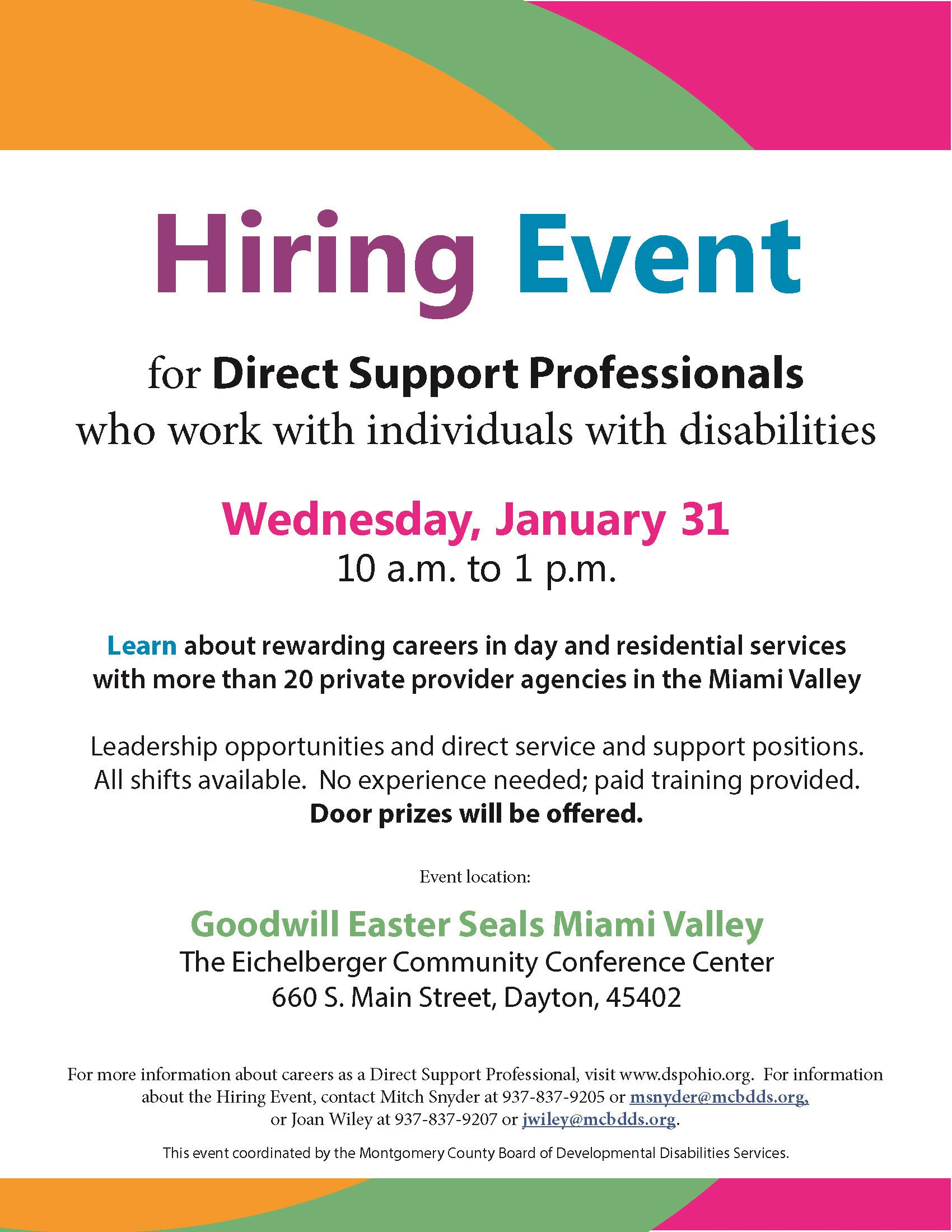 Direct Support Professional Hiring Event