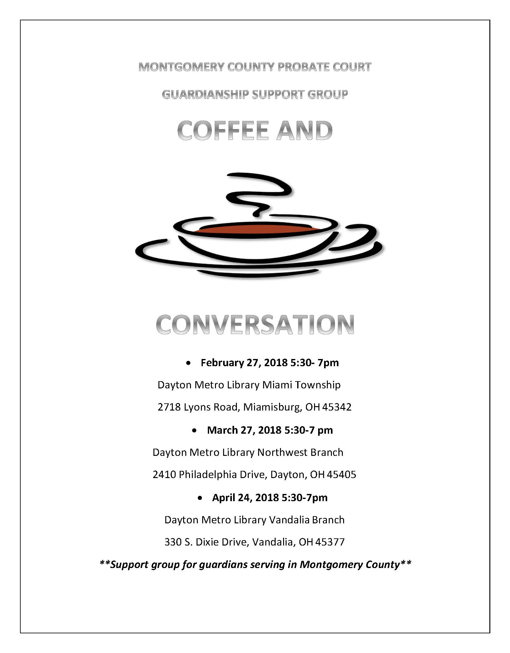 Coffee and Conversation Feb-Apr
