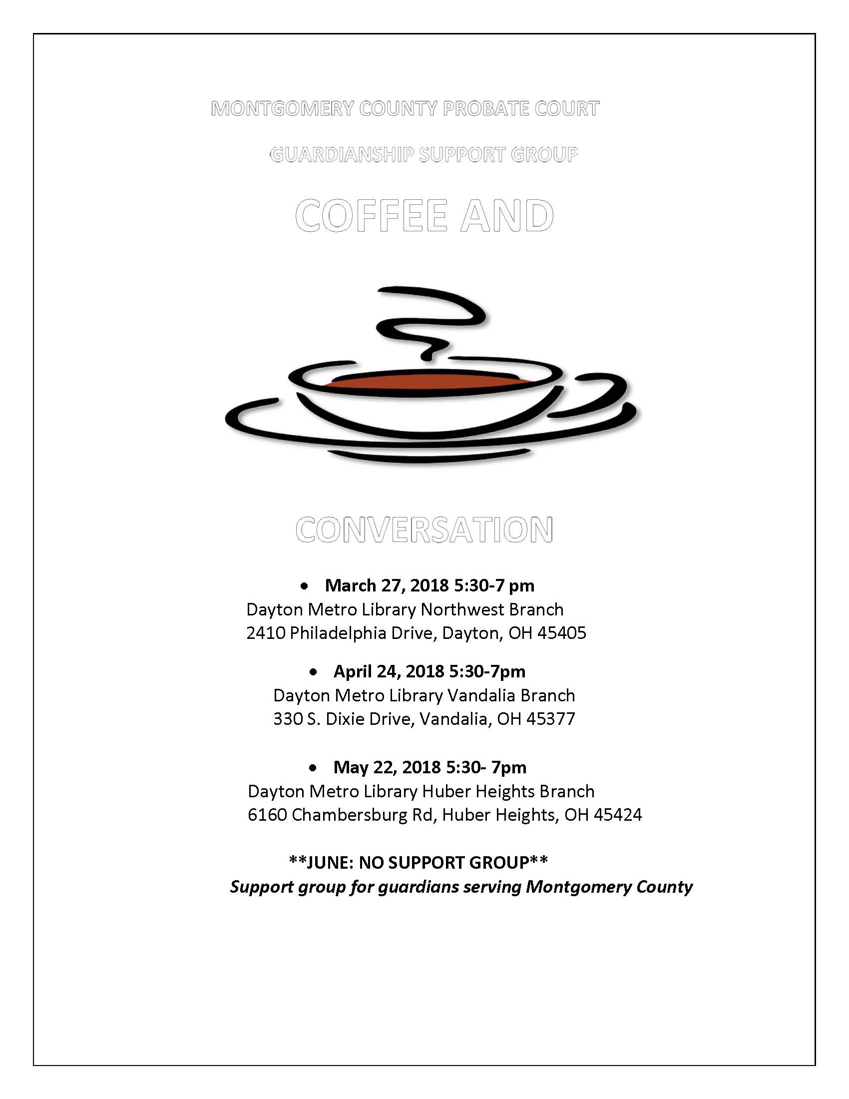 Coffee and Conversation Apr-June