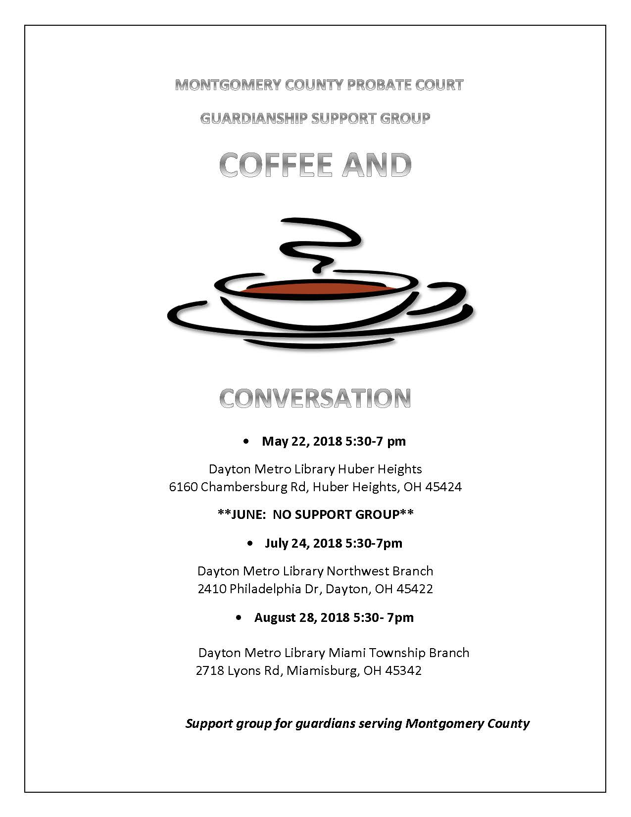 Coffee and Conversation May-Aug